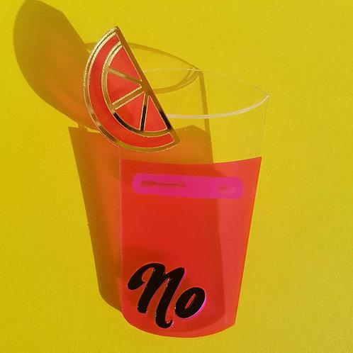 No Pink Lemonade Brooch by Power & Stiletto