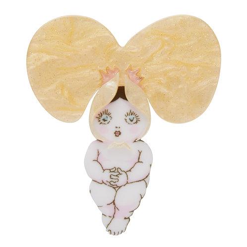 PEABABY Brooch by Erstwilder | May Gibbs | Sweet Pea Flower