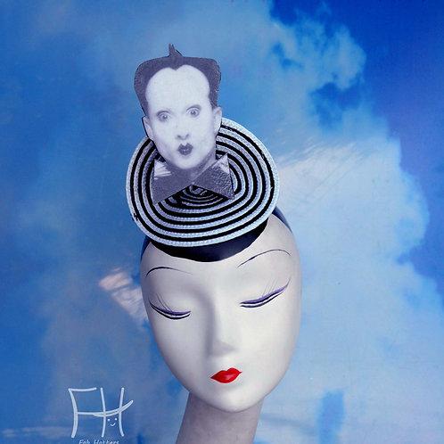 Klaus Nomi Black & White Greyscale Fascinator