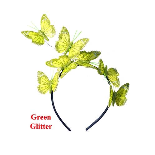 Green Butterfly Fascinator Headband
