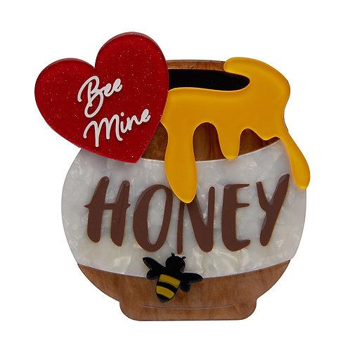 Bee Mine, Honey Brooch by Erstwilder | Bees, Hive w/ Heart