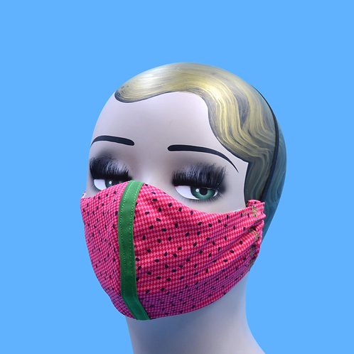 Watermelon Seed Print Face Mask w/ Filter Pocket