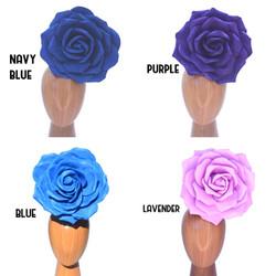 30cm Blue & Purple Foam Rose Floral Head