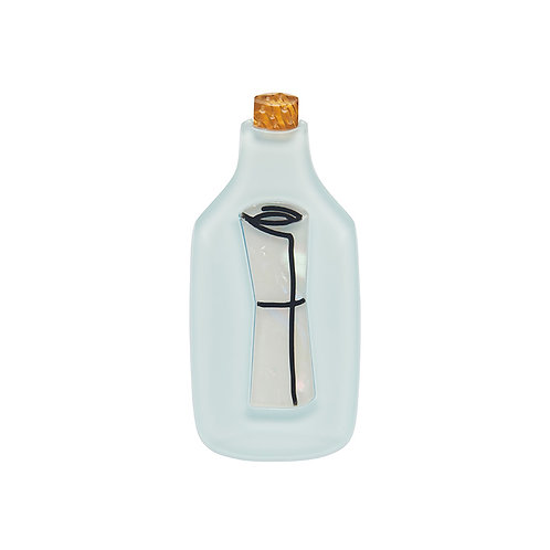 Hope's Love Letter Mini Brooch by Erstwilder   Letter in a Bottle