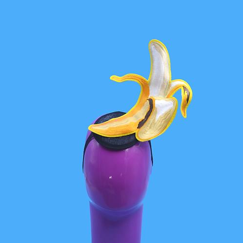 Pop Art Yellow Banana Fascinator Hat | Surreal Costume