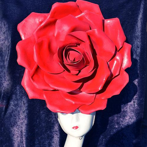 GIANT 50cm Red Rose Queen Headpiece Fascinator