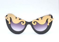 See Horsin' Around Seahorse Gold & Black