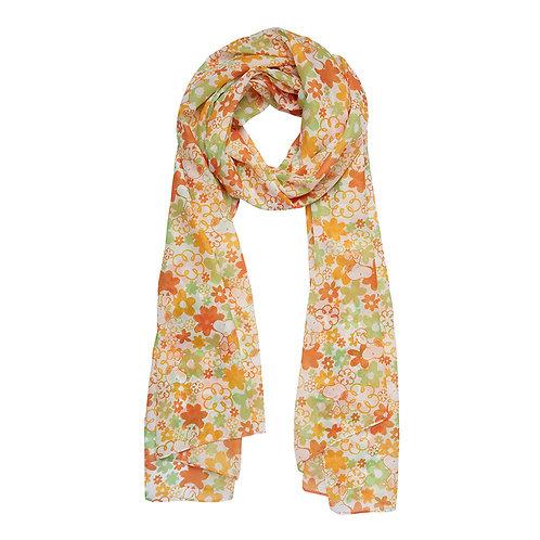Snoopy Floral Neck Scarf  | Orange PEANUTS Scarf