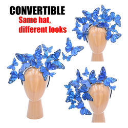 The Issie - Convertible Blue Feather But