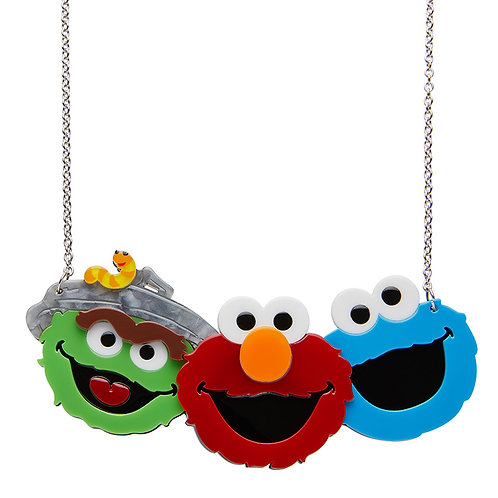 Friendly Neighbours Necklace by Erstwilder | Sesame Street | Oscar. Elmo, Cookie