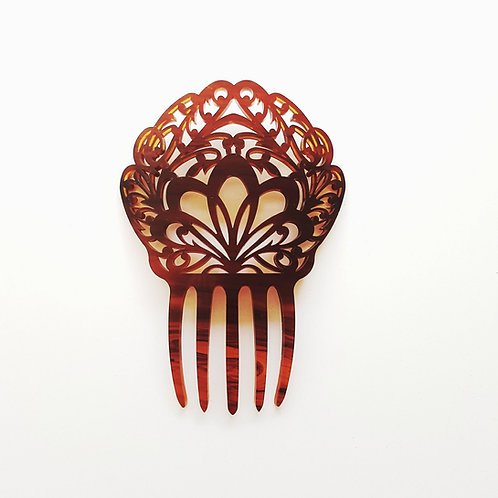 Large Mantilla Hair Comb in Tortoise Shell by MissJ Jewelry