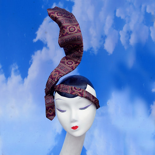 Surreal Custom Mens Tie Unisex Headpiece Fascinator | Drunk Businessman Costume