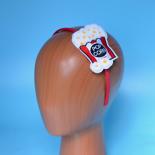 Red & White Popcorn Box Headband