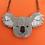 """Thumbnail: """"Dark Side"""" Drop Bear/Koala Necklace by KimChi & Coconut"""