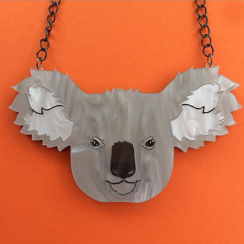 """Dark Side"" Drop Bear/Koala Necklace by KimChi & Coconut"