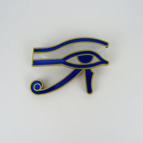 Blue or Teal Eye of Horus Brooch by MissJ Designs