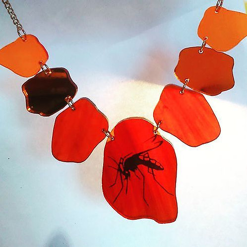 Mosquito in Amber Necklace by Snikt and BAMF