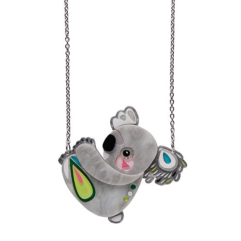 The Kuddly Koala Necklace by Erstwilder | Gray Grey Koala Drop Bear
