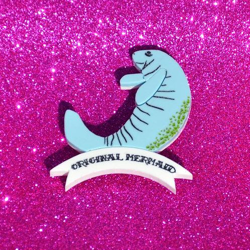 """""""Original Mermaid"""" Brooch Manatee Brooch by KimChi & Coconut"""