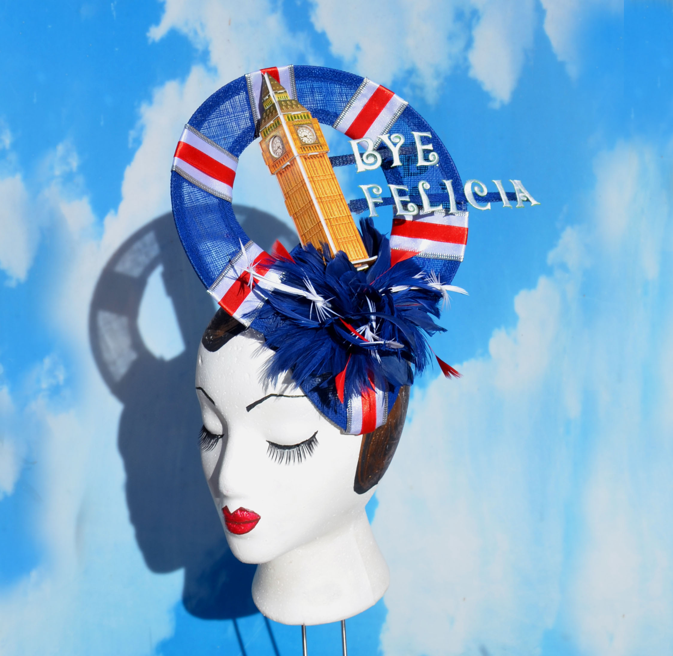 Big Ben Union Jack Fascinator Hat