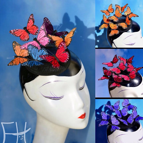 Made to Order, Any Color Butterfly Teardrop Fascinator