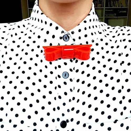 Mary Poppins Red Bow Tie by MissJ Jewelry