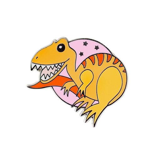 Rex the Tyrant King Enamel Pin by Erstwilder | Dinosaur