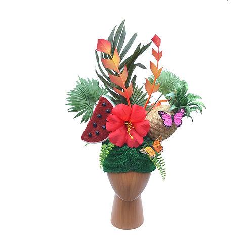 Custom Made to Order Carmen Miranda Fruit Turban Pineapple, Melon, Mixed Fruit