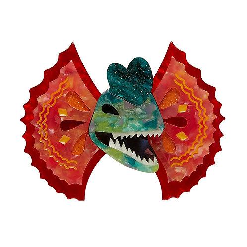 Double the Fun Brooch | Thrill Neck Dilophosaurus