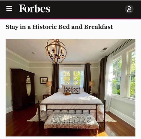 Forbes Article MacPherson House Bed and