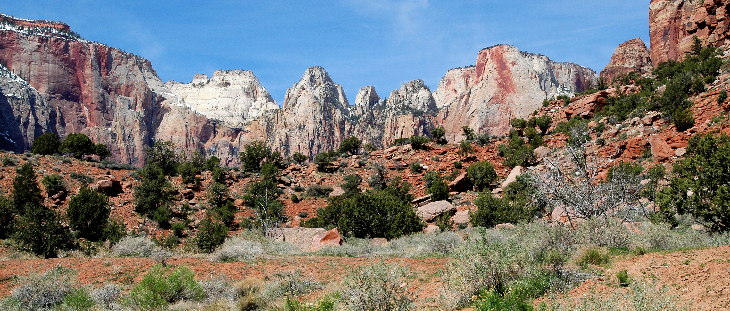 Picturesque Zion Mountains