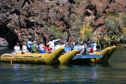 Calm water river rafting-Hoover Dam