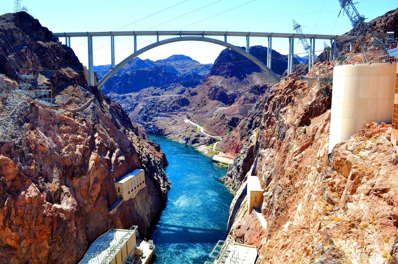 View of Hoover Dam Bridge from Dam