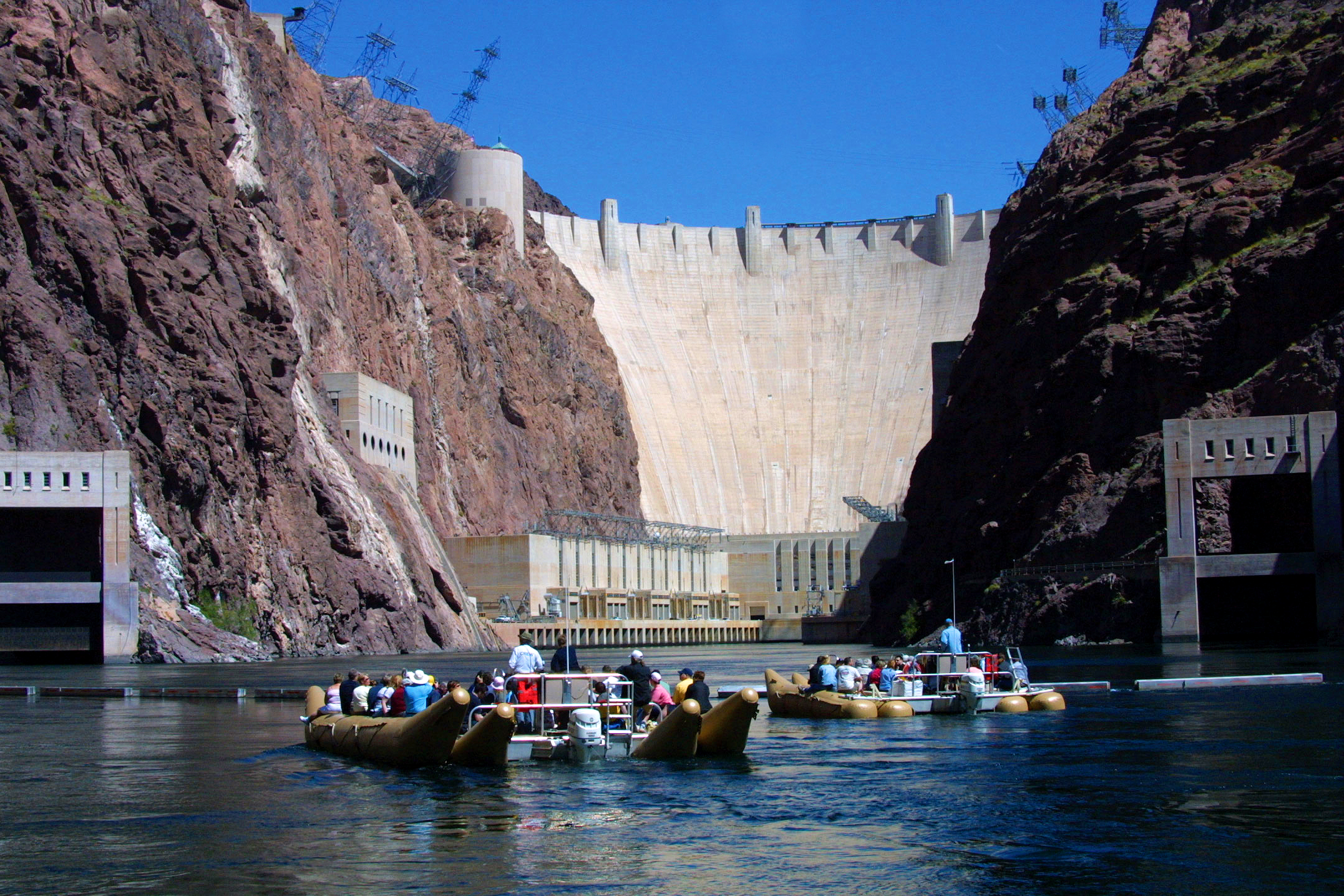 Hoover Dam view from raft