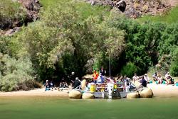 Raft Tour Romantic Beach stop
