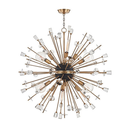 Liberty Chandelier in Aged Brass