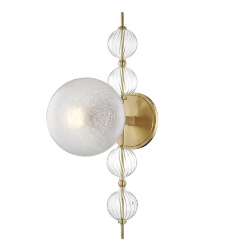 Calypso Wall Sconce in Aged Brass