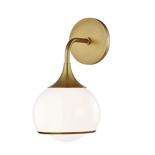 Reese Sconce in Aged Brass