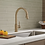 Thumbnail: Trinsic Kitchen Faucet in Champagne Bronze