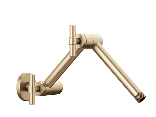 Articulating Showerarm Luxe Gold