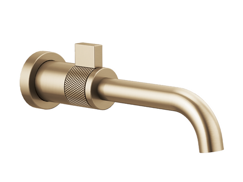 Litze Wallmount Faucet in Luxe Gold