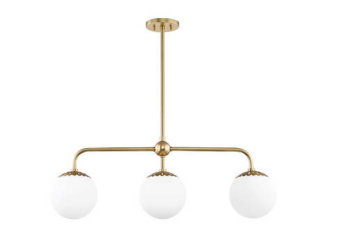 Paige Linear Pendant in Aged Brass