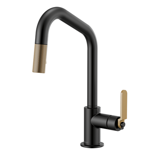 Litze Kitchen Faucet in Lux Gold/Black