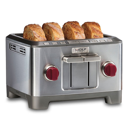 4-Slice Toaster (Red Knobs)
