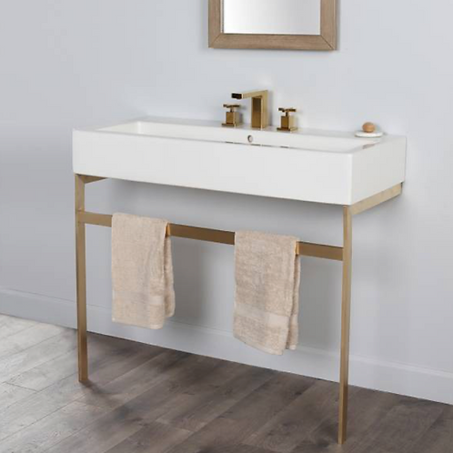 "Lacava 39"" Aquagrande Console Legs in Brushed Brass"
