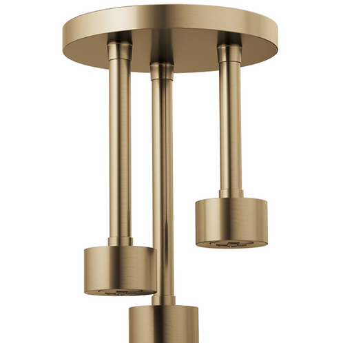 Ceiling Mount Pendant Rainshower in Lux Gold
