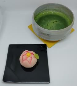 石臼引き宇治抹茶と上生菓子