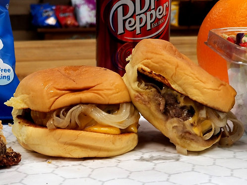 Beef Slider w/onions & cheese