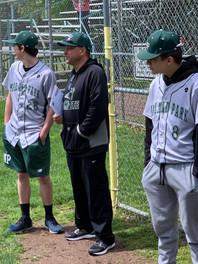 Evans n his baseball team Pinch Hit n Run