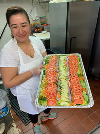 Linda n her beautiful garden salad
